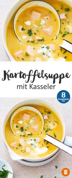 Kartoffelsuppe mit Kasseler | 8 SmartPoints/Portion, Weight Watchers, fertig in 35 min.