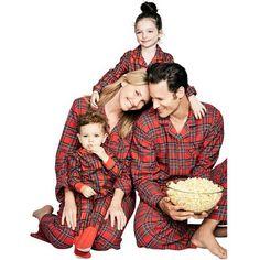 ZXZY Matching Family Pajamas Sets Plaid Printing Home Pajamas Outfit 2cbf4403b