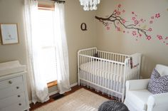 Grant Beige by Benjamin Moore, had Lowe's make a color match of this. Grant Beige by B Nursery Room, Girl Nursery, Nursery Decor, Nursery Ideas, Room Ideas, Nursery Layout, Nursery Inspiration, Pink And Gray Nursery, Nursery Neutral