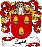 Audet Coat of Arms  Audet Family Crest