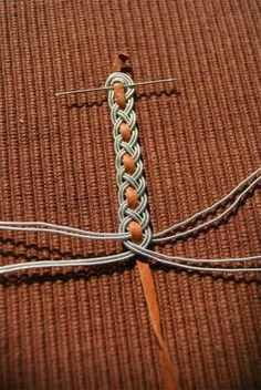 the active search of inspiration, I browsed loads of images in the net to find diverting leather bracelet designs. Leather bracelets, cuffs, wraps, wrist bands - whether hand-made on Etsy or from fashion houses - all are inspiring and creative. Macrame Bracelet Diy, Macrame Jewelry, Wire Jewelry, Jewelry Crafts, Jewelery, Jewelry Bracelets, Handmade Jewelry, Bracelet Box, Pandora Bracelets