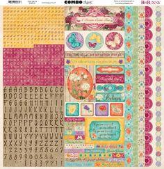 Bo Bunny Press - Ambrosia Collection - 12 x 12 Cardstock Stickers - Combo at Scrapbook.com $2.99