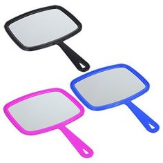 Basic Solutions Hand Mirrors with Plastic Handles Oakley Sunglasses, Mirrored Sunglasses, Vanities, Dollar Tree, Hair Products, Mirrors, Bathrooms, Hair Care, Plastic