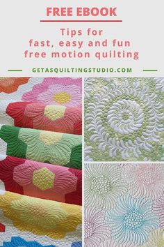 Free motion quilting tips- tips that make your free motion quilting easier and fun.