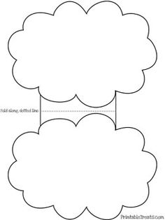 Large cloud pattern. Use the printable outline for crafts