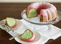 Pistachio pound cake with a cherry glaze. Say MMMM to spring!