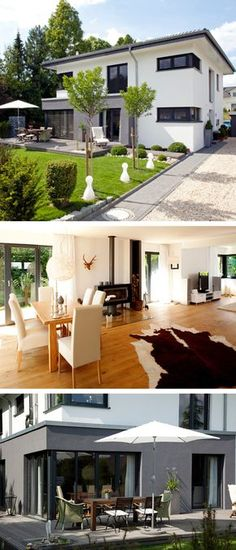 Stadtvilla modern mit Galerie & Zeltdach Architektur - Massivhaus bauen Haus Freiberger Baumeister-Haus - HausbauDirekt.de