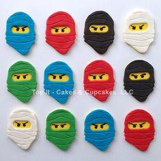 Fondant Cupcake Toppers Ninja