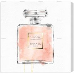Coco Chanel Perfume Bottle Canvas Wall Art