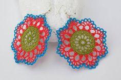 Pendientes de crochet  Pendientes de ganchillo  por lindapaula, €12.00