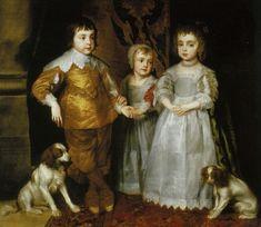 VAN DYCK, Retrato de 3 hijos de Carlos I, 1634, Royal Collection, Windsor Castle, London