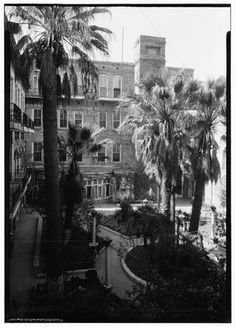 Second page of Arth Davis Stewart's building photos of San Antonio for HABS in 1936 Menger Hotel, Texas History, San Antonio, Buildings, The Past, Tours, Events, Patio, American
