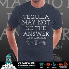 It's Thirsty Thursday... here's a PSA about Tequila from the gang at Sipsy.... grab this one for yourself of share it with that friend.... you know the one! #tequila #tequilashots #shots #tequilashot #tequilabar #margarita #margaritas #marg #margs #marglife #drinking #drunk #bar #club #thirstythursday #beerandashot #salttequilalime #deepthoughts #meme #memes #drinkingmemes #drinkingmemes #tshirt #tshirtdesign #tshirtdesigns #tshirtdesigner #teeshirt #answers #answered #answer