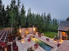 Lap pool in a beautiful setup and with a stunning view.