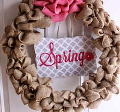 Our Pinteresting Family: Come On Spring Wreath