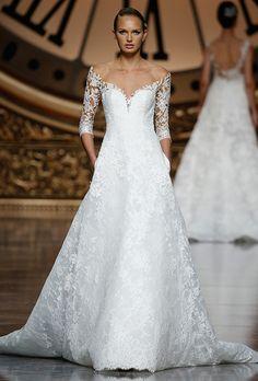 Brides: Pronovias Wedding Dresses - Spring 2016 - Bridal Runway Shows - Brides.com