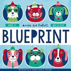 NYC May 12th - 16th! #blueprint #blueprintshow #dogs #doglover #puppy #cute #love #party #celebrate #nyc #puppyportrait #amieesuedesigns  @blueprintshows #artlicensing #brendamanleydesigns #myfavoritedesigns #createtomake #art_we_inspire #creativemind #creativelife #portfolio #surfacedesign #surfacepatterndesign #printandpattern
