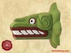 Aztec Empire - Quetzalcoatl Sculpture - - World History Projects World History Projects, Middle Ages History, Aztec Empire, Mesoamerican, Mystery Of History, Stone Sculpture, Ancient Civilizations, Art Projects, Art