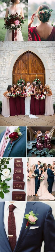 Brides everywhere are coveting the decadence of Merlot as a wedding color. This… wedding diys / boquette wedding fall / autumn wedding ideas / wedding fall colors september / wedding colors fall october August Bride, August Wedding, Merlot Wedding, Mauve Wedding, Burgundy Wedding, Wedding Bouquets, Wedding Flowers, Sophisticated Wedding, Trendy Wedding