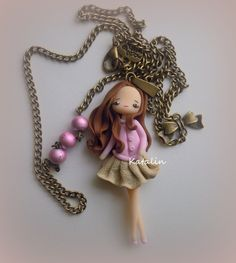 Little doll entirely handmade with polymer clay (FIMO). By Katalin Handmade (2013)