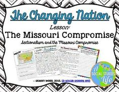 Missouri Compromise - Age of JacksonAim: Why did Congress agree to the Missouri Compromise? Andrew Jackson Presidency, Missouri Compromise, Source Documents, Primary Sources, Reading Passages, Close Reading, Graphic Organizers, Cover Pages, Social Studies
