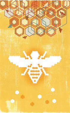 Digital Hives illustrated by ©Thom Sevalrud. Represented by i2i Art Inc. #i2iart