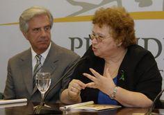 Nora Castro junto a Tabaré Vázquez (archivo / Presidencia)