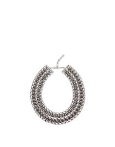 WOMAN'S SILVER MESH NECKLACE WITH STONES - Accessories - Woman - New collection - ZARA Turkey
