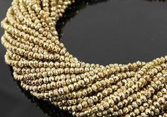 Gold Pyrite Beads Natural 5 to 13 Inch Strand Drilled 3.5mm Rondelle Semiprecious Faceted Gemstone Beads Take 20% Off Jewelry Craft Supply by EUROBEADS on Etsy https://www.etsy.com/listing/130581013/gold-pyrite-beads-natural-5-to-13-inch