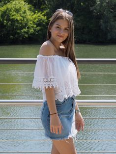 Pinterest Skirt jeans casual Motto summer look outfit