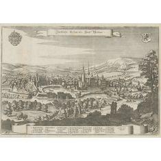 Fürstliche Residenz Statt Weimar, Thüringen, Kupferstich, Fototapete Merian, Stich