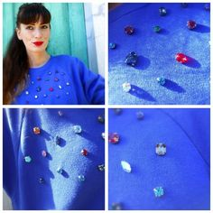outfit felpa blu con pietre, jeans estivi chiati, blu e rosa, sandali multicolor con fiocchi, outfit primaverile,  fashion blogger felpe, amanda marzolini the fashionamy blog, outfit blu, rosa, verde giallo,