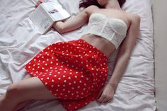 be my valentine red and white hearts skirt by LoveLittleDarling, €23.00