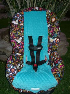 Birds of Norway in Teal Infant Car Seat Cover --- Moves To Toddler. $65.00, via Etsy.