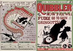 The Quibbler!  A great prop or favor for a Harry Potter party or a Luna Lovegood costume.