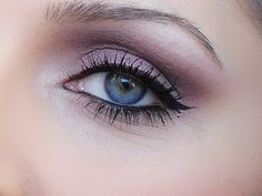 purple smoky eye, simple wedding make-up