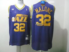 NBA Throwback Jerseys Utah Jazz #32 malone purple Jerseys