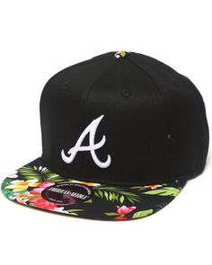 Atlanta Braves Mahalo Print Adjustable hat (Drjays.com Exclusive) by American Needle