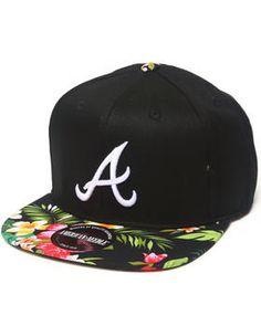 Atlanta Braves Mahalo Print Adjustable hat (Drjays.com Exclusive) by American Needle