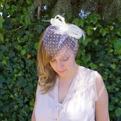 Shop for fascinator on Etsy, the place to express your creativity through the buying and selling of handmade and vintage goods. Bridal Fascinator, Wedding Fascinators, Wedding Hair Pieces, Veil, Wedding Hairstyles, Ivory, Bride, Pearls, Trending Outfits