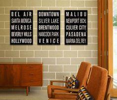 Los Angeles Subway Signs