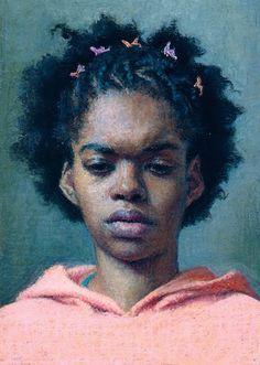 """Portrait of Ruby"""" - Jennifer Gennari (b. 1983), oil on panel ..."""
