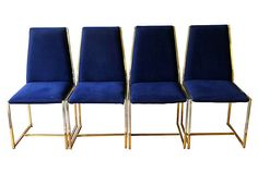 Brass Milo Baughman Side Chairs, S/4 on OneKingsLane.com