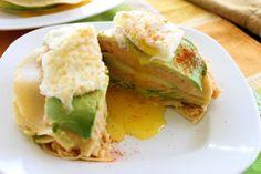 crepe stacks with chipotle-potato-avocado filling