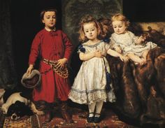 "Jan Matejko, ""Portrait of Artist's Children"", 1870."