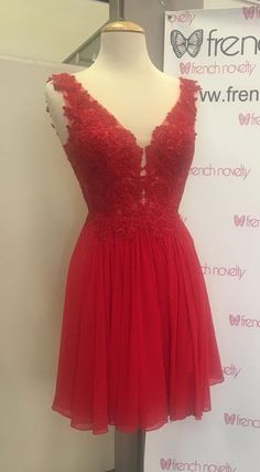 short homecoming dress, red homecoming dress, 2017 homecoming dress, 2017 short red chiffon homecoming dress