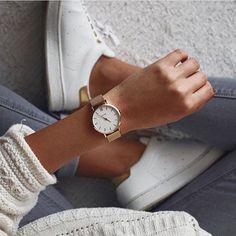 Cluse Minuit Mesh Gold Horloge