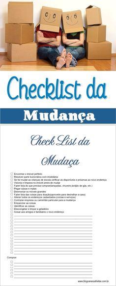 Checklist da mudança para download  #Aluguel #Checklist #Moving #Mudança