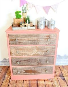 decoupage napkin dresser, decoupage, painted furniture, repurposing upcycling