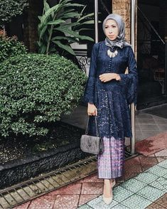 Trendy Wedding Dresses With Sleeves Lace Traditional 54 IdeasI heard that bell sleeves are making its comeback.Image may contain: 1 person Kebaya Lace, Kebaya Dress, Batik Kebaya, Dress Pesta, Batik Dress, Kebaya Modern Hijab, Kebaya Hijab, Kebaya Brokat, Dress Brokat Muslim